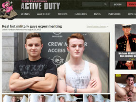 Active Duty - Active Duty Gay Porn of Perfect Hot Military Guys